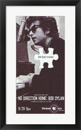 Framed No Direction Home: Bob Dylan By Martin Scorsese Print
