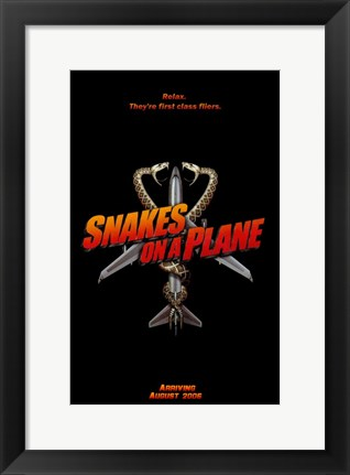 Framed Snakes on a Plane First Class Flyers Print