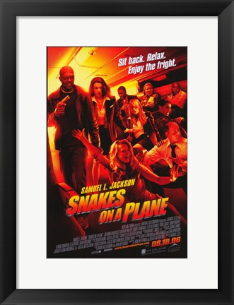 Framed Snakes on a Plane Sit back. Relax. Print