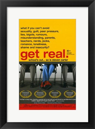 Framed Get Real Print