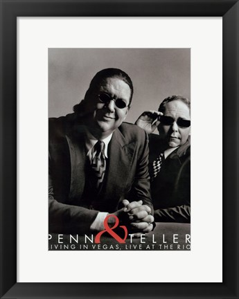 Framed Penn and Teller - glasses Print