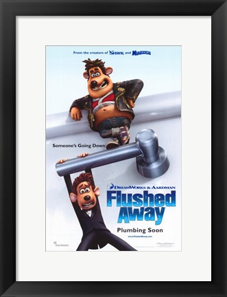 Framed Flushed Away Print
