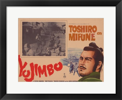 Framed Yojimbo the Bodyguard Print