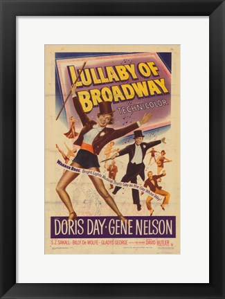Framed Lullaby of Broadway Print