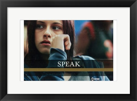 Framed Speak Print