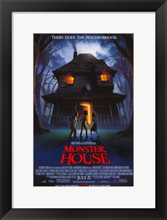 Framed Monster House Print