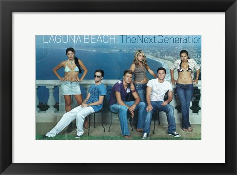 Framed Laguna Beach: The Real Orange County Print