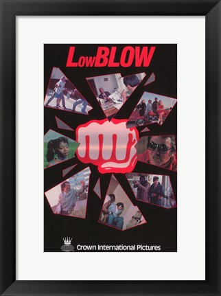 Framed Low Blow Print