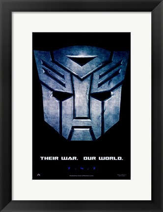 Framed Transformers - style B Print