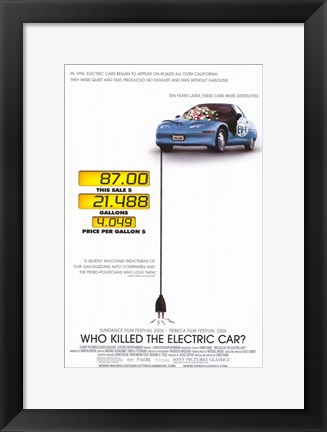Framed Who Killed the Electric Car? Print
