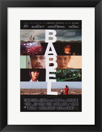 Framed Babel - faces Print