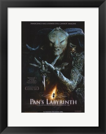 Framed Pan's Labyrinth - holding a sword Print