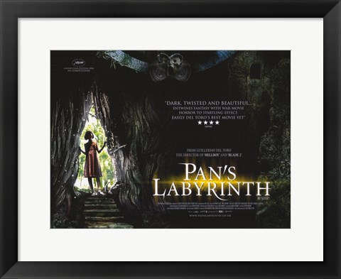 Framed Pan's Labyrinth - little girl Print