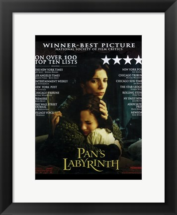 Framed Pan's Labyrinth - Winner-Best Picture Print