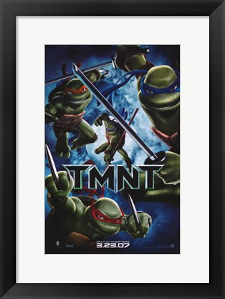 Framed Teenage Mutant Ninja Turtles TMNT 3.23.07 Print