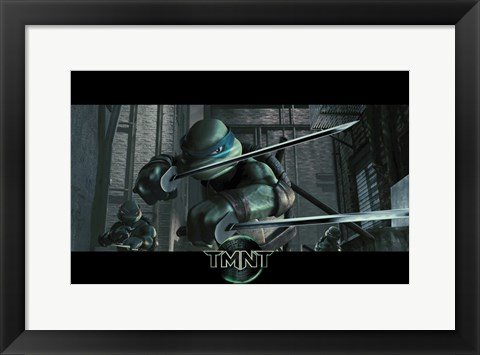 Framed Teenage Mutant Ninja Turtles Leonardo Print