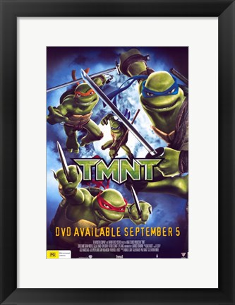 Framed Teenage Mutant Ninja Turtles DVD Print