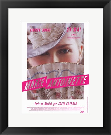 Framed Marie Antoinette Movie French Print