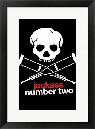 Framed Jackass: Number Two - crutches Print