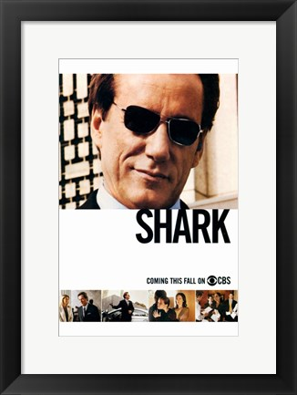 Framed Shark (TV) Print