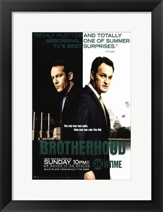 Framed Brotherhood (TV) Jason Isaacs And Jason Clarke Print