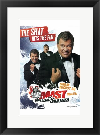 Framed Comedy Central Roast of William Shatner Print