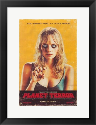 Framed Grindhouse You Might Feel a Little Prick. Print
