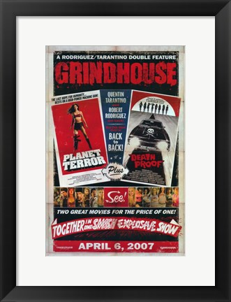 Framed Grindhouse Planet Terror & Death Proof Print