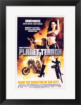 Framed Grindhouse Planet Terror Motorcycle Print