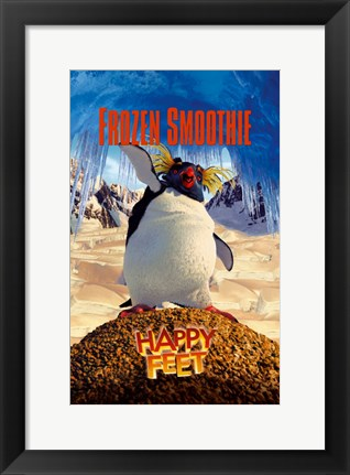 Framed Happy Feet Frozen Smoothie Print