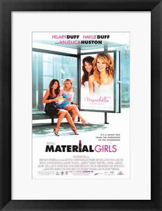 Framed Material Girls Print