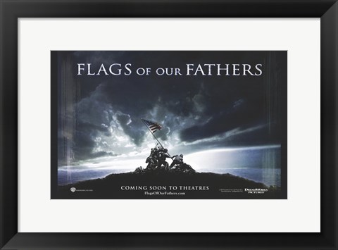 Framed Flags of Our Fathers Iwo Jima Print