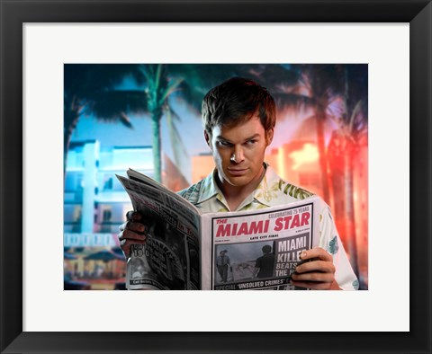 Framed Dexter Miami Star Print