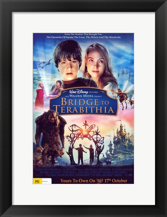 Framed Bridge to Terabithia Cast Print