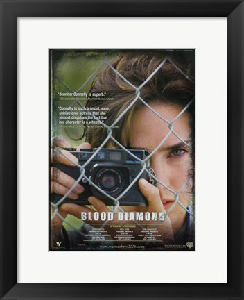 Framed Blood Diamond Jennifer Connelly Print