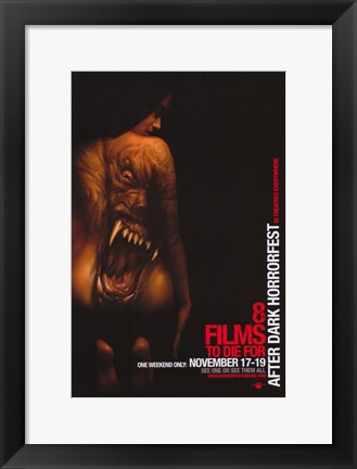 Framed After Dark Horrorfest Poster Print