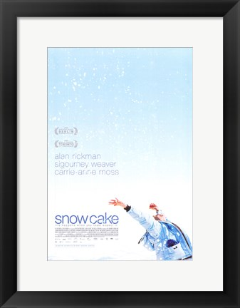 Framed Snow Cake Print