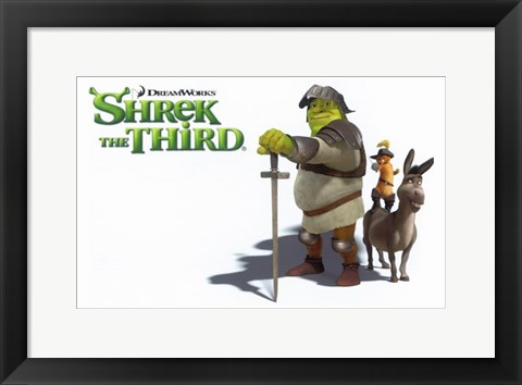 Framed Shrek the Third Knight Print