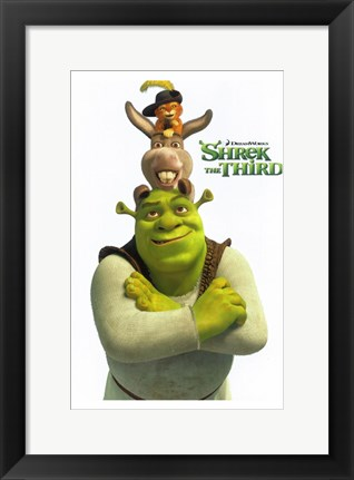 Framed Shrek the Third Main Characters Print