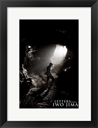 Framed Letters from Iwo Jima in Cave Print
