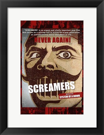 Framed Screamers - Never Again Print