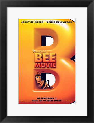 Framed Bee Movie Hold On to Your Honey Print