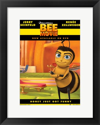 Framed Bee Movie Arms Crossed Print
