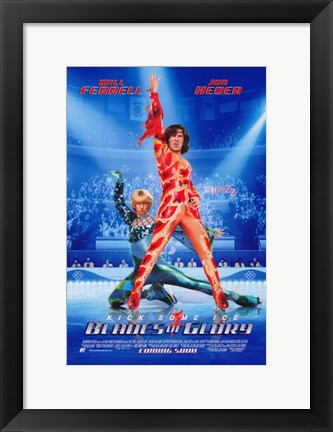 Framed Blades of Glory - Kick Some Ice Print
