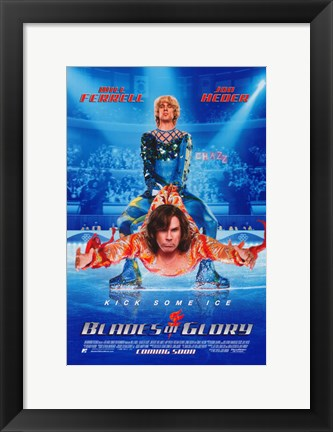 Framed Blades of Glory - Ice Skating Print