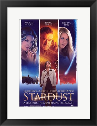 Framed Stardust Witches, Pirates & Stars Print