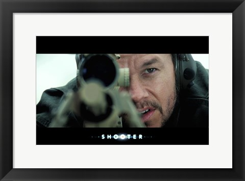 Framed Shooter - pointing gun Print
