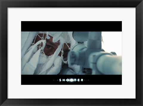 Framed Shooter - aiming Print