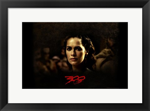 Framed 300 Queen Gorgo Lena Headey Print