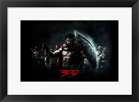 Framed 300 Spartan Cast Print